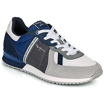 Chaussures Homme Baskets basses Pepe jeans TINKER ZERO 21 Gris / Bleu