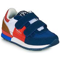Chaussures Garçon Baskets basses Pepe jeans SYDNEY TREND BOY KIDS SS21 Bleu / Rouge