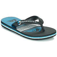 Chaussures Enfant Tongs Quiksilver MOLOKAI PANEL YOUTH Noir / Bleu