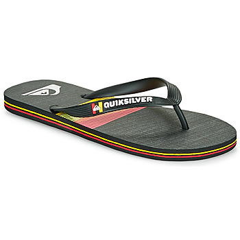 Chaussures Homme Tongs Quiksilver MOLOKAI SEASONS Noir / Orange
