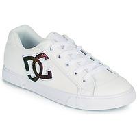 Chaussures Femme Chaussures de Skate DC Shoes CHELSEA J Blanc / Rose