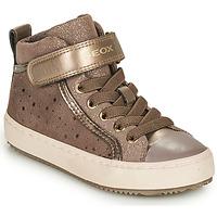 Chaussures Fille Baskets basses Geox J KALISPERA FILLE Beige
