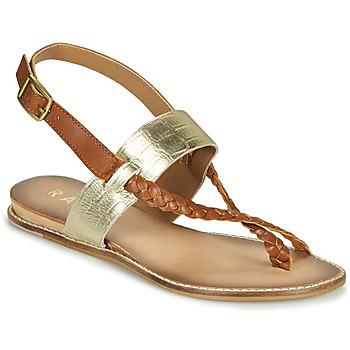 Chaussures Femme Sandales et Nu-pieds Ravel LUNA Doré / Camel