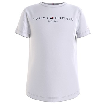 Vêtements Fille T-shirts manches courtes Tommy Hilfiger THIRE Blanc