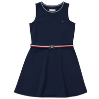 Vêtements Fille Robes courtes Tommy Hilfiger RBOJA Marine