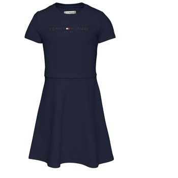 Vêtements Fille Robes courtes Tommy Hilfiger NIMINO Marine