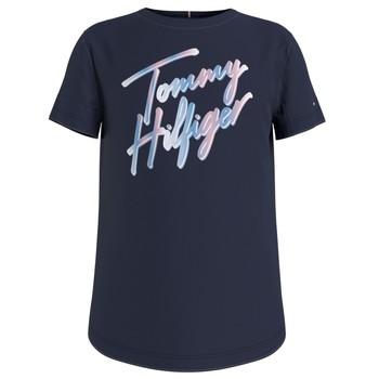 Vêtements Fille T-shirts manches courtes Tommy Hilfiger FILLIN Marine