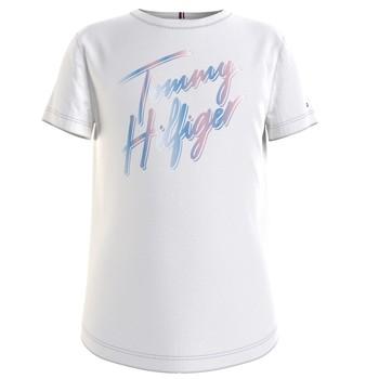 Vêtements Fille T-shirts manches courtes Tommy Hilfiger FILLIN Blanc
