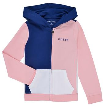 Vêtements Fille Sweats Guess EAMERICA Blanc / Rose