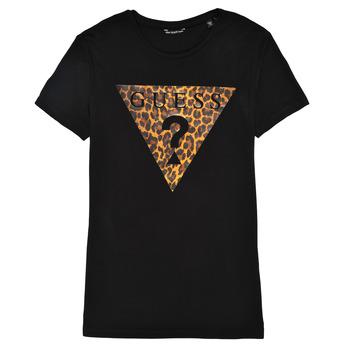 Vêtements Fille T-shirts manches courtes Guess THIMENO Noir