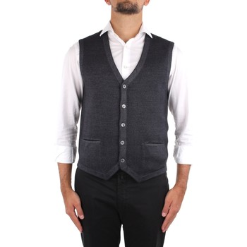 Vêtements Homme Gilets / Cardigans La Fileria 22746 58144 Gris