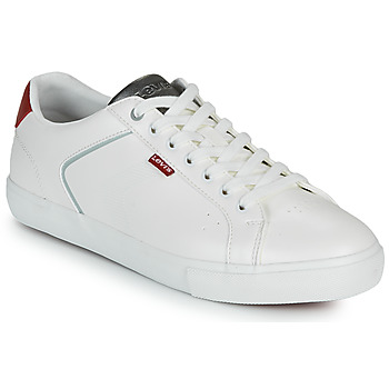 Chaussures Homme Baskets basses Levi's WOODWARD 2.0 Blanc / Rouge