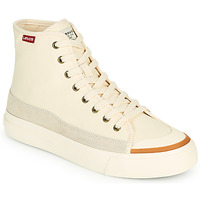Chaussures Femme Baskets montantes Levi's SQUARE HIGH S Blanc