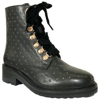 Chaussures Femme Bottines Lollipops Bottine gold stud Noir