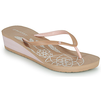 Chaussures Femme Tongs Isotoner FRADA Beige