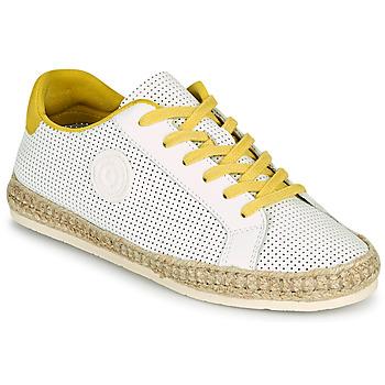 Chaussures Femme Espadrilles Pataugas PALOMA F2F Blanc / Jaune