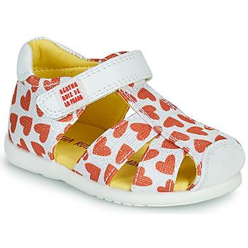 Chaussures Fille Sandales et Nu-pieds Agatha Ruiz de la Prada HAPPY Blanc / Rouge