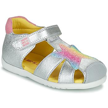 Chaussures Fille Sandales et Nu-pieds Agatha Ruiz de la Prada HAPPY Argenté