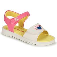 Chaussures Fille Sandales et Nu-pieds Agatha Ruiz de la Prada SMILEY Blanc / Rose
