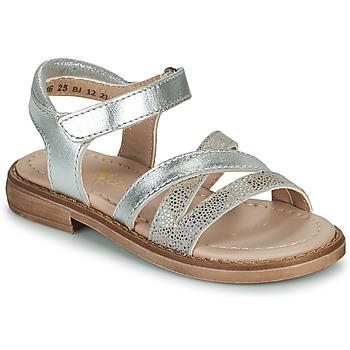 Chaussures Fille Sandales et Nu-pieds Aster TESSIA Argenté