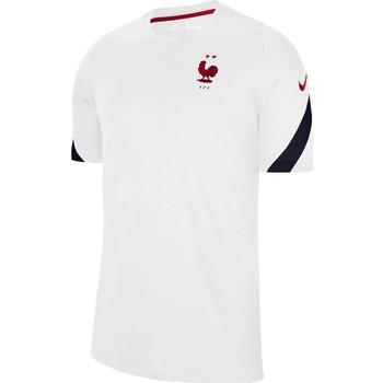Vêtements Homme T-shirts manches courtes Nike Maillot France Strike blanc