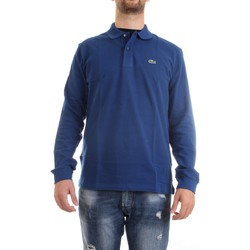 Vêtements Homme Polos manches longues Lacoste L1312 00 polo homme bleu moyen bleu moyen