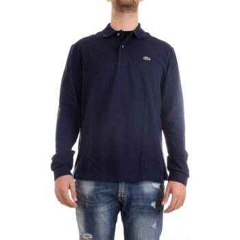Vêtements Homme Polos manches longues Lacoste L1312 00 polo homme bleu bleu