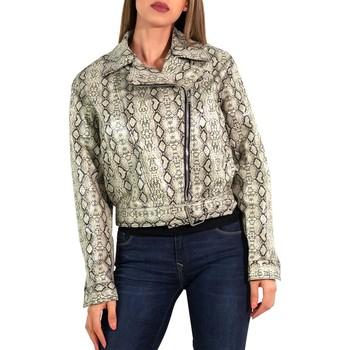 Vêtements Femme Vestes en cuir / synthétiques Kebello Blouson perfecto Taille : F Beige XS Beige