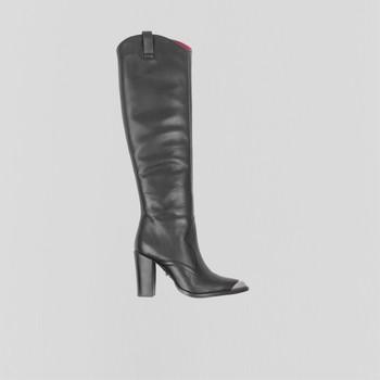 Chaussures Femme Bottes ville Bronx Bottes femme  New-Americana noir