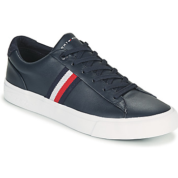 Chaussures Homme Baskets basses Tommy Hilfiger CORPORATE LEATHER SNEAKER Marine