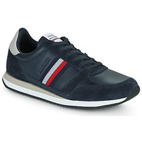 Chaussures Homme Baskets basses Tommy Hilfiger RUNNER LO LEATHER STRIPES Marine