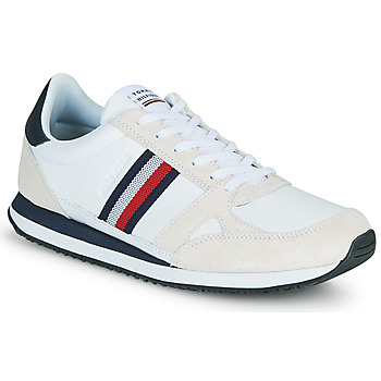 Chaussures Homme Baskets basses Tommy Hilfiger RUNNER LO LEATHER STRIPES Blanc