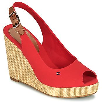 Chaussures Femme Sandales et Nu-pieds Tommy Hilfiger ICONIC ELENA SLING BACK WEDGE Orange