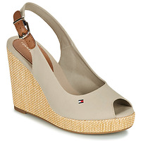 Chaussures Femme Sandales et Nu-pieds Tommy Hilfiger ICONIC ELENA SLING BACK WEDGE Taupe