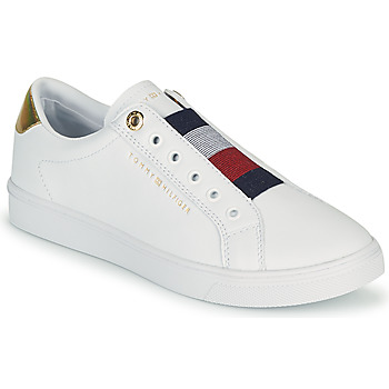 Chaussures Femme Baskets basses Tommy Hilfiger TH ELASTIC SLIP ON SNEAKER Blanc