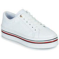 Chaussures Femme Baskets basses Tommy Hilfiger CORPORATE FLATFORM CUPSOLE Blanc