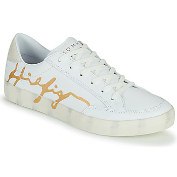 Chaussures Femme Baskets basses Tommy Hilfiger TH SIGNATURE LEATHER SNEAKER Blanc