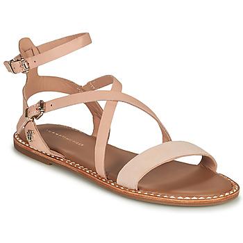 Chaussures Femme Sandales et Nu-pieds Tommy Hilfiger ESSENTIAL TOMMY FLAT SANDAL Cognac