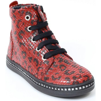 Chaussures Fille Bottines Bellamy Bottines cuir rouge