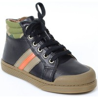 Chaussures Garçon Baskets montantes 10 Is Baskets cuir WIN STRIPES noir