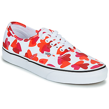 Chaussures Femme Baskets basses Vans AUTHENTIC Blanc / Rouge