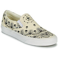 Chaussures Slip ons Vans CLASSIC SLIP ON Beige / Noir