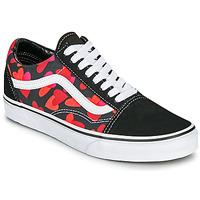 Chaussures Femme Baskets basses Vans OLD SKOOL Noir / Rouge