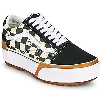 Chaussures Femme Baskets basses Vans OLD SKOOL STACKED Noir / Blanc