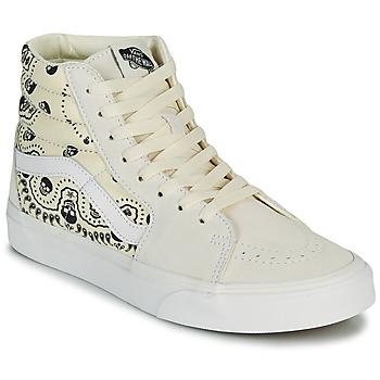 Chaussures Baskets montantes Vans SK8 HI Beige / Noir