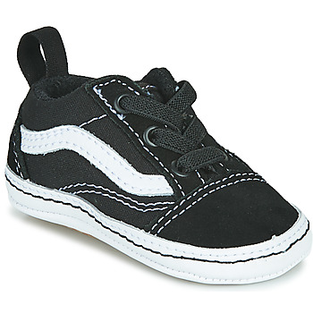 Chaussures Enfant Baskets basses Vans OLD SKOOL CRIB Noir / Blanc