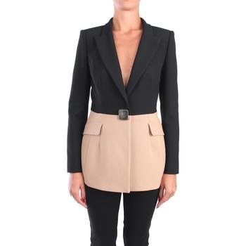 Vêtements Femme Vestes / Blazers Simona Corsellini A20CPGI006 blazer Femme Noir / beige Noir / beige