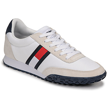 Chaussures Homme Baskets basses Tommy Jeans LOW PROFILE MIX RUNNER RETRO Blanc / Bleu / Rouge