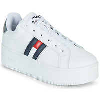 Chaussures Femme Baskets basses Tommy Jeans IRIDESCENT ICONIC SNEAKER Blanc