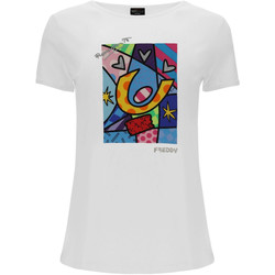 Vêtements Femme T-shirts manches courtes Freddy F0WBRT1 Blanc